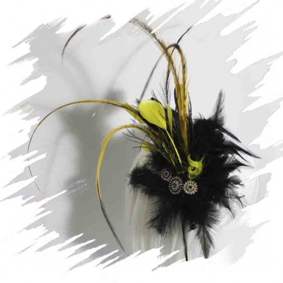 Yellow Feather Fascinator