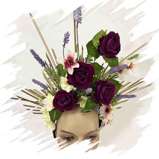 Purple Roses Headband...