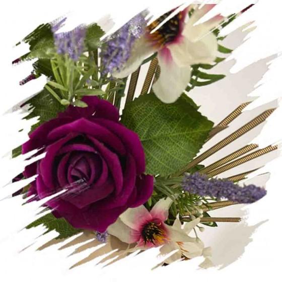 Purple Roses Headband Fascinator