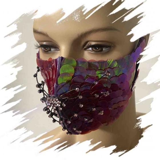 Magenta spider face mask