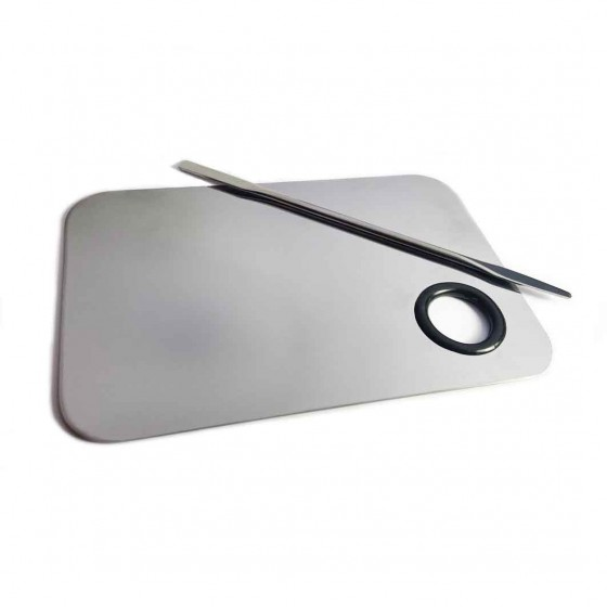 Spatula with steel trowel