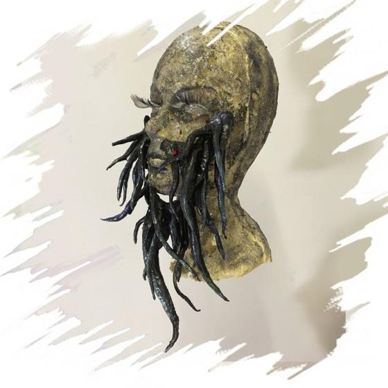 Barba Tentáculos pre-pintada, Aplicación Latex