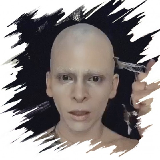copy of Professional bald cap, Latex application.