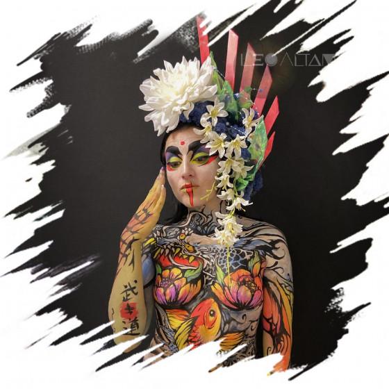 Body Painting medio cuerpo
