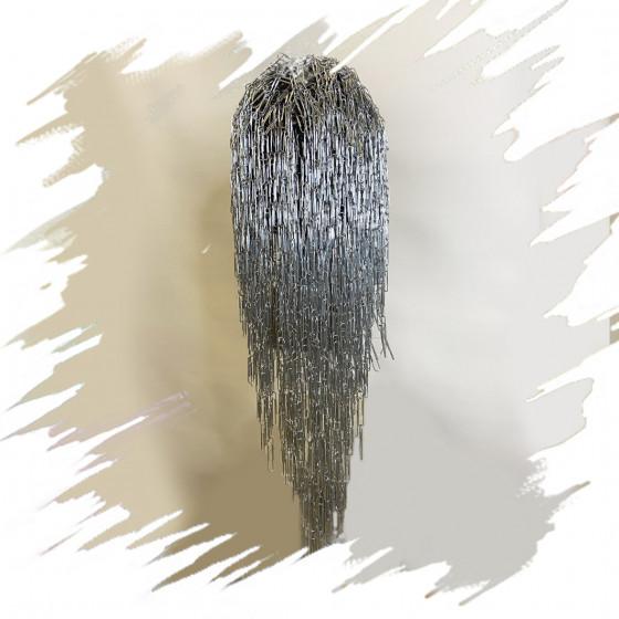 Silver clips wig