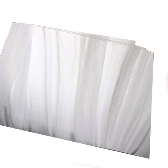 Self-adhesive plastic mirror sheets