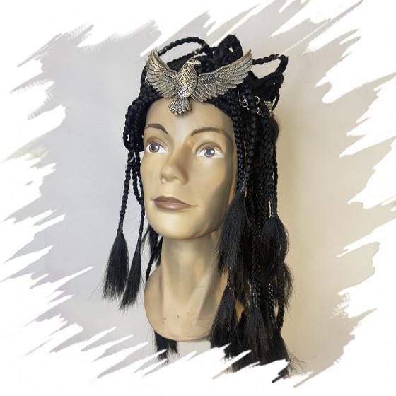 Black braided wig
