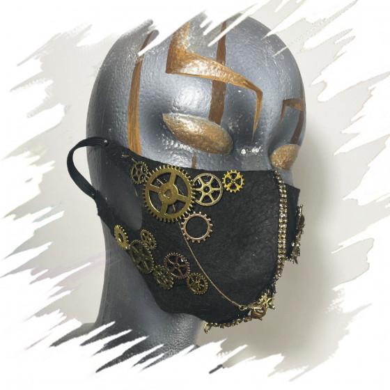 Steampunk copper face mask