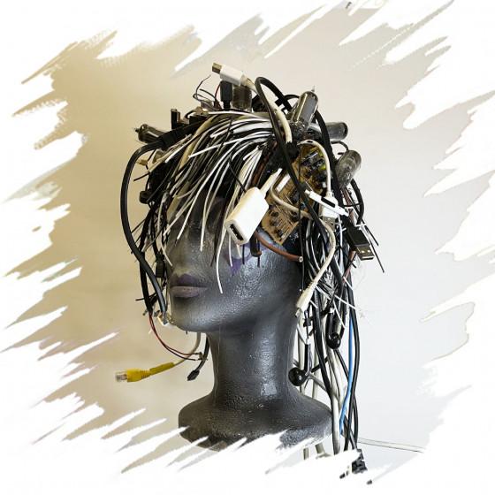 Cyber Fascinator - Wig