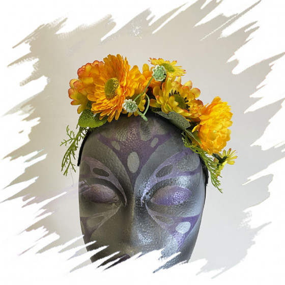 Yellow Flowers Mini headband
