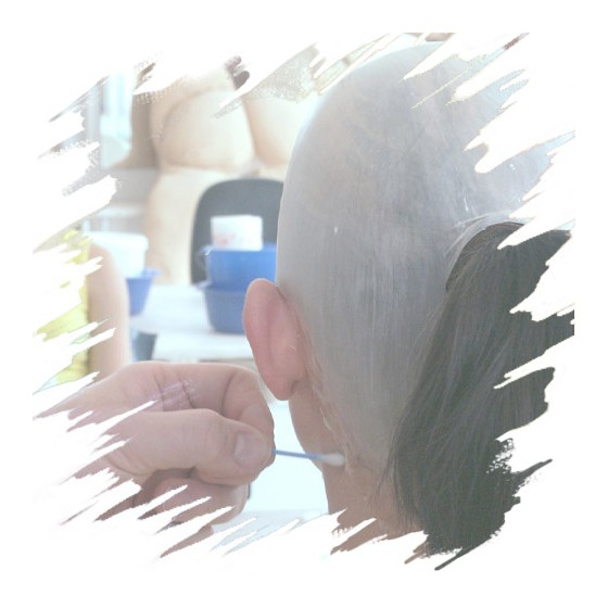 Professional Transparent Bald Cap, Latex Application